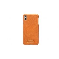 Pierre Cardin Case / Hülle für iPhone Xs Max Braun Echtleder