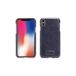 Pierre Cardin Case / Hülle für iPhone Xs Max Blau Echtleder