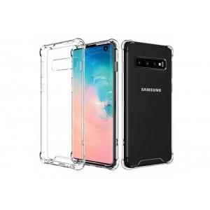 TPU Case / Hülle mit Wabenstruktur für Samsung Galaxy S10+ Plus transparent
