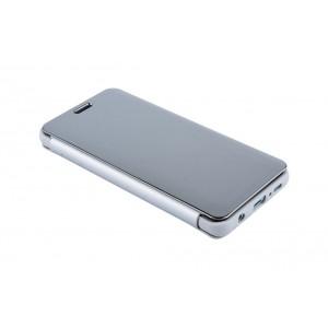 Ultra Slim Tasche / Book Case für Samsung Galaxy S10+ Plus Silber