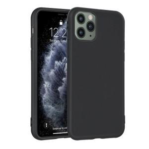 Slim Hülle / Silikon Case iPhone 11 Pro Schwarz