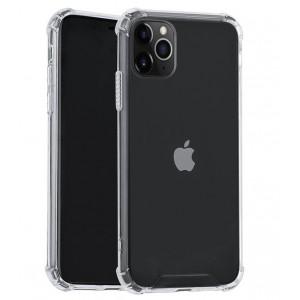Silikon Hülle Shockproof Fallschutz / Kantenschutz iPhone 11 Pro Transparent