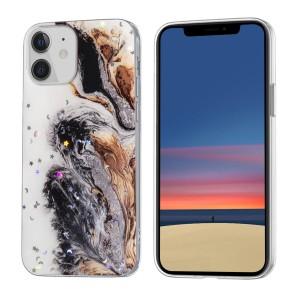 iPhone 12 Mini Case Hülle Cover Gradient Glitter Print Mix Dunkel
