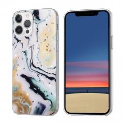 iPhone 12 / 12 Pro Case Hülle Cover Gradient Glitter Print Mix Light