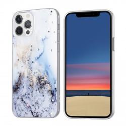 iPhone 12 / 12 Pro Case Hülle Cover Gradient Glitter Print Hellblau