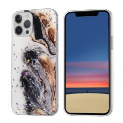 iPhone 12 / 12 Pro Case Hülle Cover Gradient Glitter Print Mix