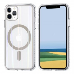 iPhone 11 Pro MagSafe Case Hülle Cover Transparent  / Magsafe Ring Gold