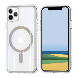 iPhone 11 Pro Max MagSafe Case Hülle Cover Transparent / Ring Gold
