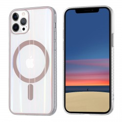 iPhone 12 / 12 Pro MagSafe Case Hülle Cover Transparent / Ring Rose Gold