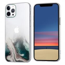 iPhone 12 / 12 Pro Case Hülle Cover Gradient Print Transparent 679