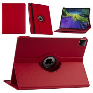 iPad Pro 12.9 (2021) Book Case Tablet Smart Cover Hülle 360° Rot