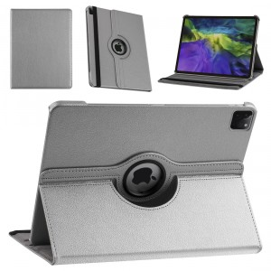 iPad Pro 12.9 (2021) Book Case Tablet Smart Cover Hülle 360° Silber
