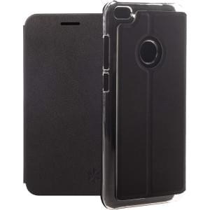 Dark Book Folio Tasche | Huawei P8 Lite 2017 | Kunstleder schwarz