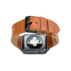 dbramante1928 Lederarmband Apple Watch 42 / 44mm dunkel sattelbraun / grau