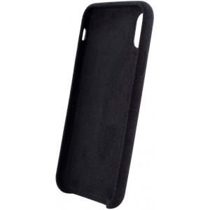 Dual Alcantara Hülle / Hard Case für iPhone 11 Pro Max Schwarz