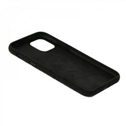 Dual Alcantara iPhone 12 Pro Max Hülle / Hard Case  Schwarz