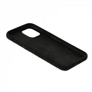 Dual Alcantara iPhone 12 / 12 Pro Hülle / Hard Case  Schwarz