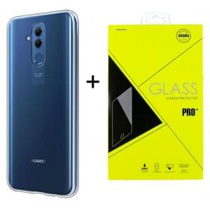 Huawei Mate 20 Lite Ultra Slim Hülle Transparent + Panzerglas Pro+