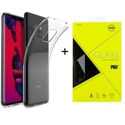 Huawei Mate 20 Pro Ultra Slim Hülle Transparent + Panzerglas Pro+
