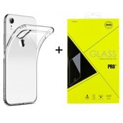 iPhone XR Ultra Slim Hülle Transparent + Panzerglas Pro+