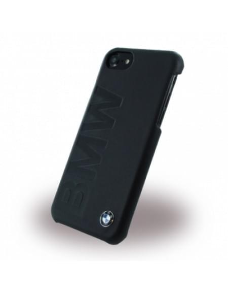 BMW - BMHCP7LOB Signature Debossed Logo - Leder Cover / Hardcover / Handyhülle - Apple iPhone 7 - Schwarz