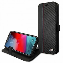 BMW Tasche iPhone 12 Pro Max M Power Book Cover Case BMFLBKP12LMCARBK