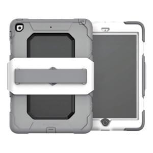 Griffin Survivor Medical Case | Schutzhülle für Apple iPad 9.7 2017 / 2018 | Weiß / Grau