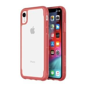 Griffin Survivor Clear Case | Schutzhülle für iPhone XR | Transparent / rot