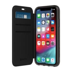 Griffin Survivor Clear Wallet | Tasche für iPhone XR | Schwarz / Transparent