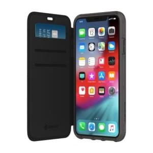 Griffin Survivor Clear Wallet | Tasche für iPhone Xs / X | Schwarz / Transparent