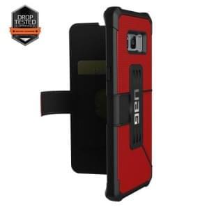 Urban Armor Gear Metropolis Folio Tasche | Samsung Galaxy S8+ Plus | Magma (Rot)