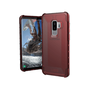 Urban Armor Gear Plyo Case | Samsung Galaxy S9+ Plus | Crimson rot transparent