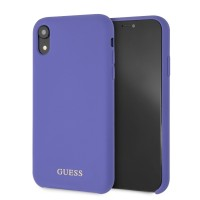 Guess Silicone Cover / Hülle für iPhone XR Lila