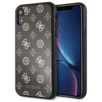 Guess Peony G 4G Hülle für iPhone XR Schwarz / Gold