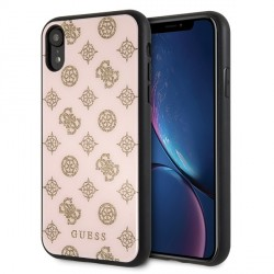 Guess Peony G 4G Hülle für iPhone XR Pink / Gold