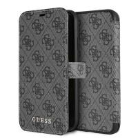 Guess 4G Tasche / Booktype Hülle für iPhone XR Grau