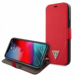 GUESS iPhone 12 mini 5,4 Handytasche Saffiano Rot GUFLBKP12SVSATMLRE