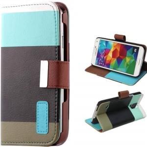 Ledertasche PU Leder Protection meets Fashion! für Samsung Galaxy S5 mit Kreditkartenfächer