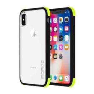 Incipio Sport Series Reprieve Case I Schutzhülle für iPhone X / Xs I Schwarz / Volt / Transparent
