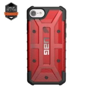 Urban Armor Gear Plasma Case I Apple iPhone 8 / 7 I Magma rot transparent