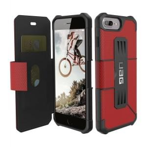 Urban Armor Gear Metropolis Folio Case I Apple iPhone 8 Plus / 7 Plus I Magma rot