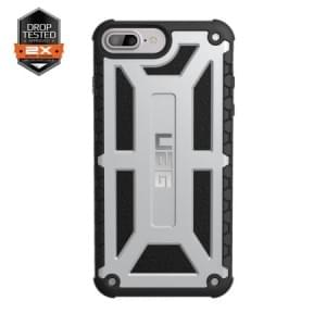 Urban Armor Gear Monarch Case I Apple iPhone 8 Plus / 7 Plus I Platinum hellgrau