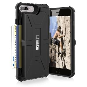 Urban Armor Gear Trooper Card Case I Apple iPhone 8 Plus / 7 Plus I Schwarz