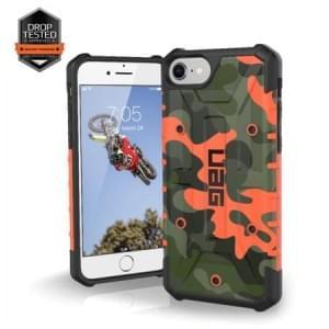 Urban Armor Gear Pathfinder Case I Apple iPhone 8 / 7 I Rust Orange / Camo