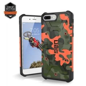 Urban Armor Gear Pathfinder Case I Apple iPhone 8 Plus / 7 Plus I Rust Orange / Camo