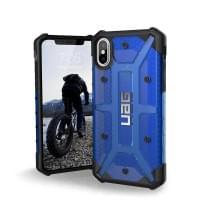 Urban Armor Gear Plasma Case I Schutzhülle für iPhone X / Xs I Cobalt blau transparent