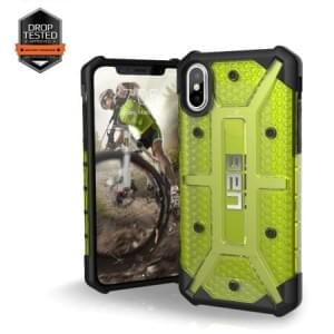 Urban Armor Gear Plasma Case I Schutzhülle für iPhone X / Xs I Citron gelb transparent