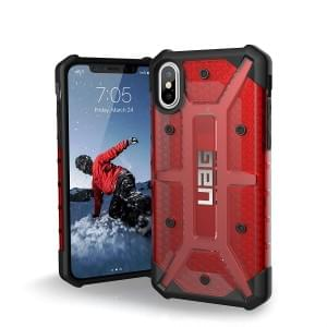 Urban Armor Gear Plasma Case I Schutzhülle für iPhone X / Xs I Magma rot transparent