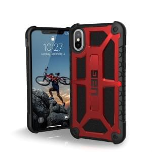 Urban Armor Gear Monarch Case I Schutzhülle für iPhone X / Xs I crimson rot