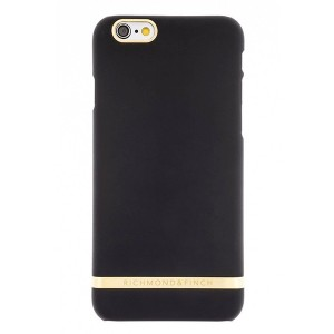 Richmond & Finch iPhone SE 2020 / 8 / 7 / 6 Cover Classic Satinx schwarz